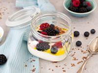 Früchtequark mit Leinöl Rezept
